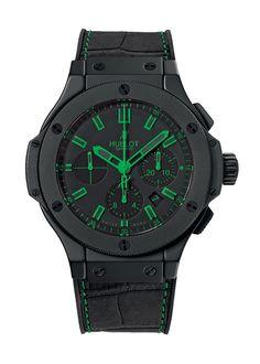 cd8bfb02239 Big Bang All Black Green 44mm Chronograph watch from Hublot Projetos