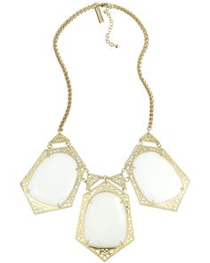 Nadeline Statement Necklace in White - Kendra Scott Jewelry.