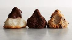 Coconut Macaroons recipe substituting stevia for sugar but definitely dipping in chocolate