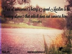 Words of Wisdom #40Pearls #Ramadan2013 #wowconference Pearl #5