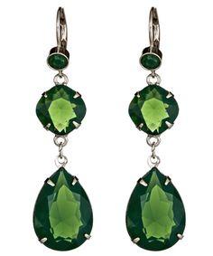 Roberta Chiarella Reese Green Drop Earrings