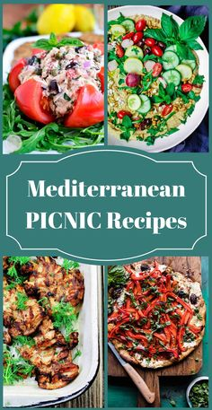 25 Mediterranean Picnic Recipes | The Mediterranean Dish. A collection of all-star picnic recipes with a Mediterranean twist! From zesty mouthwatering salads and dips, to sides, pastas, Greek chicken wings, kabobs & desserts! See them all on TheMedterraneanDish.com