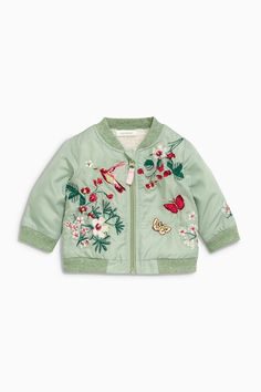 Buy Green Embroidered Bomber Jacket online today at Next  United States of  America 17916c97175d