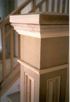Newel post, craftsman style