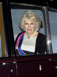 Duchess Camilla wears her wedding tiara to Buckingham Palace. Camilla, 67, wore what royal watchers believe to be a family heirloom, the Cubitt-Shand diamond-encrusted tiara, to a reception for members of the diplomatic corps. Camilla wore the statement piece — believed to be a legacy of the Duchess' maternal grandmother Sonia Rosemary Cubitt, Baroness Ashcombe — with dangling diamond earrings and a four-string pearl necklace.