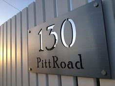 RESIDENTIAL APARTMENT LASER CUT STAINLESS STEEL SIGNAGE - Google Search