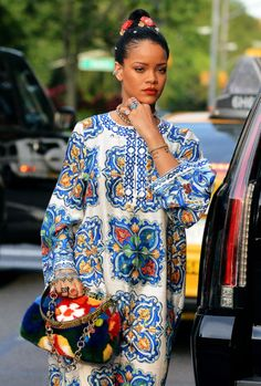 Rihanna shopping in SoHo,
