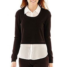 jcp   Olsenboye® Long-Sleeve Layered Top