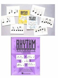 MELODY & RHYTHM FLASHCARD KITS - by Cheryl Lavender  This set includes Rhythm Kits Vol. 1 and 2 and Melody Kit. Each has 48 laminated cards sequenced by level of difficulty and an 8-page booklet of activities and games.