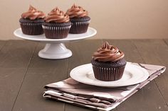 Ultimate Chocolate Cupcakes. I just made these tonight and it is my new favorite recipe!