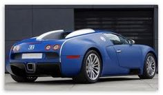Shy blue Bugatti! Still looks beautiful!