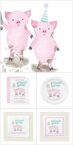 Party Favors For Kids Birthday, Birthday Bag, Photo Balloons, Barnyard Animals, Party Napkins, Party Favor Bags, Zazzle Invitations, Invitation Design, Party Supplies