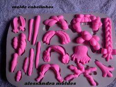 molde de silicone de modelos de cabelos pra vários tamanhos de cabeça