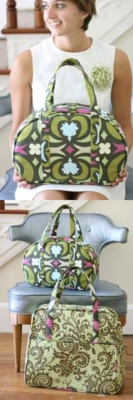 one day i will conquer these bags: the carry-all and weekender travel bag {amy butler}