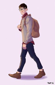 Tadashi is ta-die for! Big Hero 6 Tadashi, Tadashi Hamada, New Disney Movies, Anime Toon, Boy Character, Disney Fan Art, Disney And Dreamworks, Illustrations, Cartoon Characters