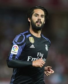 Isco Alarcon of Real Madrid CF looks on  during the La Liga match between Granada CF v Real Madrid CF at Estadio Nuevo Los Carmenes on May 6, 2017 in Granada, Spain.