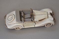 Scaled Model in Balsa Wood 1:20   Pieces:   Material: Balsawood # 1mm and #5mm, Steering and structure in Plywood #3mm, Fabriano Paper  F...