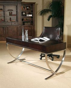This streamlined desk won't clutter your view, but it will enhance your outlook on work.