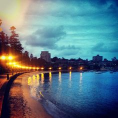 Manly cove by night - one of the local Sydney getaway spots that I love!