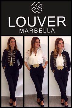 #moda#fashion#louver#marbella#mono#black&white#chaqueta#pasamaneria#cinturon#dorado