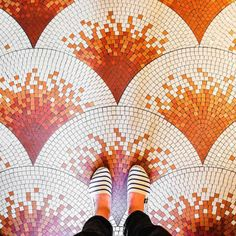 roguestars:  enjoyyourbunny:  archatlas:    Parisian Floors Sebastian Erras    Why is this person ruining the view of beautiful art with their ugly shoes?  @innshore
