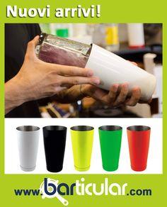MIXING TIN / BOSTON DURABLE PAINT - Bianco, nero, arancio fluo, verde fluo, giallo fluo, 28 oz.  Mixing tin bilanciato in acciaio per un perfetto equilibrio e controllo durante lanci ed acrobazie. Verniciato a triplo strato protettivo, ultra resistente al tempo e agli urti. Particolarmente indicato per il flair, è disponibile in più versioni per dare un tocco di colore al lavoro del barman. http://www.barticular.com/store/shaker-mixing-glass/boston-durable-paint-arancio-fluo