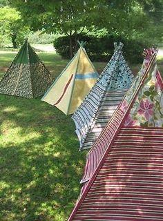 Bohemian campsite...Hippie Hippie Chic