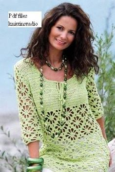Woman summer sweater pullover Pattern only by ErenaCrochetStudio,