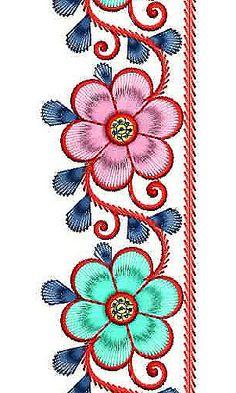 Embroidered Designer Robe Border Design
