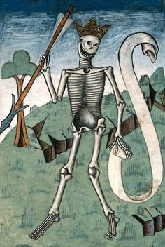 Ars moriendi (The Art of Dying)), 15th century French manuscript (detail), n.d.