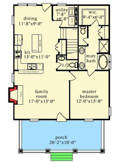 Rustic Escape With Bunk Room Cottage Country Mountain Vacation Narrow Lot Floor Master Suite CAD Available PDF Architectural Designs The Plan, How To Plan, Cabin Floor Plans, Tiny House Plans, 1 Bedroom House Plans, Small House Plans Under 1000 Sq Ft, Cottage Plan, Rustic Cottage, Cottage House