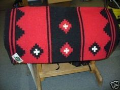 Mayatex Mayatex Show Saddle Blanket Pad Red Black Horse by Mayatex. $21.87. MAYATEX SHOW SADDLE BLANKET. MAYATEX SHOW SADDLE BLANKET PADRed/ Black36X34 TACK HORSE    Mayatex RED and Black Saddle Blanket - Economical, great looking and durable.  The Apache is a great looking and durable blanket; perfect for the showring, or if you just want to look great going down the trail!