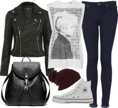 """""""my outfit for school today"""" by florencia95 ❤ liked on Polyvore"""