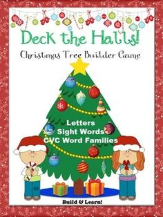 Huge Christmas Tree Builder phonics game for Pre-K, Kindergarten & 1st. Mrs. Liddiard's Perch. Teachers Pay Teachers