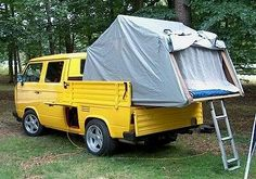 Image may have been reduced in size. Click image to view fullscreen. T3 Camper, Cargo Trailer Camper, Tent Campers, Cool Campers, Vw Syncro, Transporter T3, T3 Vw, Vw Camping, Turtle Time