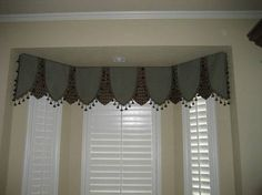 Bay Window seat in bath with valance above.  Design by?  Please let me know if this is your design.