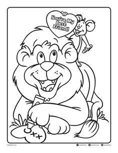 Follow the link below to download this coloring page! http://www.bendonpub.com/upload/coloring-pages/feb-2015-lion.pdf