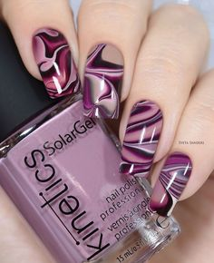 17 + Nail Polish Declares Its Kingdom In Fashion World., 17 + Nail Polish Declares Its Kingdom In Fashion World. - 1 By the time we approach nail polish is declaring its kingdom in the fashion world. Creative Nail Designs, Beautiful Nail Designs, Nail Art Designs, Nails Design, Purple Nail Art, Purple Nail Designs, Stylish Nails, Trendy Nails, Fancy Nails