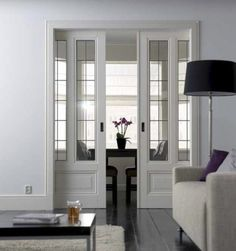 pocket doors | or office a custom pocket door is designed to balance a living space ...