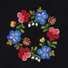 Fortsättningskurs i påsöm Dala-Floda Scandinavian Embroidery, Swedish Embroidery, Wool Embroidery, Embroidery Patterns, Ethnic Patterns, Beaded Jewelry Patterns, Pebble Art, Textiles, Pattern Art