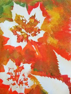 Autumn Leaf Painting: Autumn is the season of colour and leaves. This craft is an exploration of Autumn colours and my little lovely adored mixing the paint