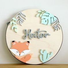 Baby Name Decorations, Baby Decor, Kids Decor, Wooden Name Plaques, Wood Name Sign, Fun Crafts, Diy And Crafts, Girl Dinosaur Birthday, Personalised Gifts Diy