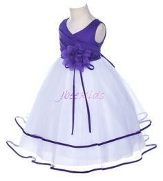 Purple Flower Girl Dress Wedding Holiday Ocassion by JbeeKids