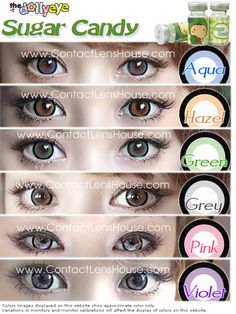 6a6e755205ffc Buy Sugar Candy Coloured Cosmetic Contact Lens - 14.5 Diameter