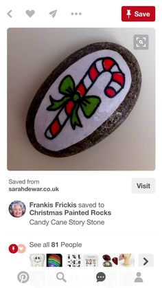 candy cane rock