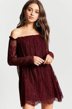 Off-The-Shoulder Lace Dress | Forever21