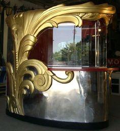 Antique and Vintage Collectibles and Curiosities - For Sale at : Art Deco Theater Ticket Booth / Bar image 4 Art Et Architecture, Architecture Details, Art Deco Decor, Art Deco Design, Art Nouveau, Bauhaus, Booth, Art Deco Buildings, Art Deco Furniture