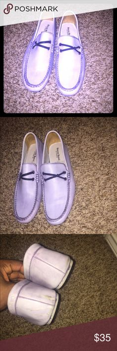 Bacco Bucci Driving Loafers Shoes have only been worn twice. Shoes are a purple/blue mix. Bacco Bucci Shoes Loafers & Slip-Ons