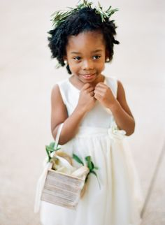 Sweet and sophisticated: http://www.stylemepretty.com/2015/06/19/the-most-adorable-flower-girls-ever/