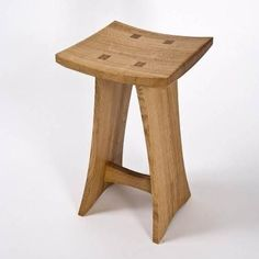 Barnsley Tall Tenoned Stool Small Furniture, Handmade Furniture, Furniture Projects, Rustic Furniture, Diy Furniture, Modern Furniture, Furniture Design, Stool Chair, Wood Stool
